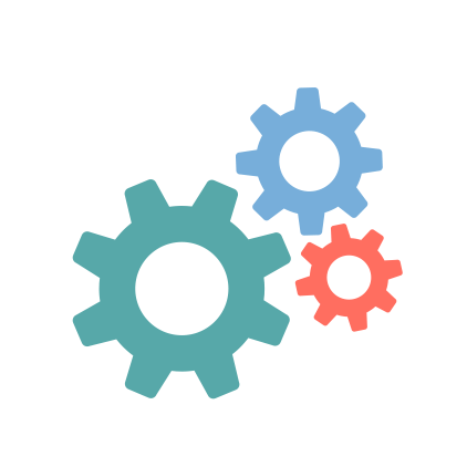 An icon gears representing the automation of the tasks