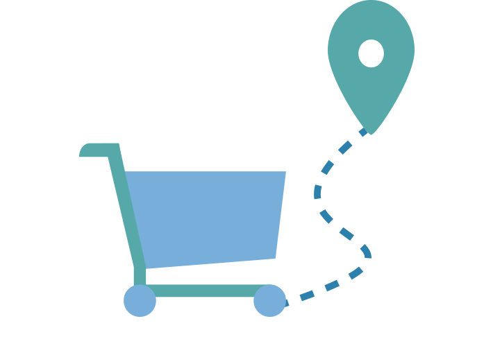 Illustration du concept web-to-store